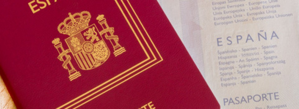 Detail of an spanish passport.  Documentation for travelers